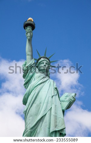 Statue of LIberty on liberty island.  - stock photo