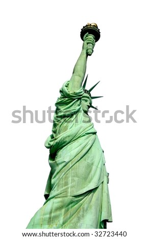 Statue of liberty on white