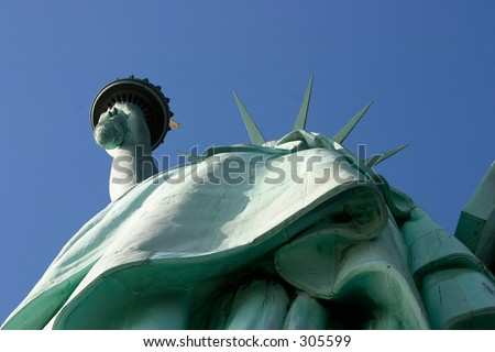Statue of Liberty - Perspective 2 - stock photo