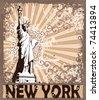 Statue Of Liberty - Symbol of New York City (see eps version in my portfolio) - stock photo