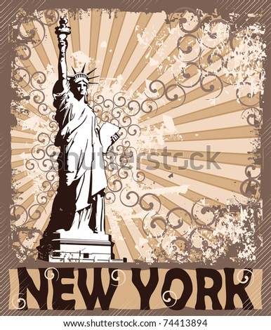 Statue Of Liberty - Symbol of New York City (see eps version in my portfolio) - stock photo