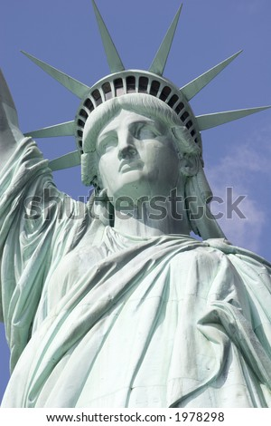 Statue of Liberty - view of upper body without torch