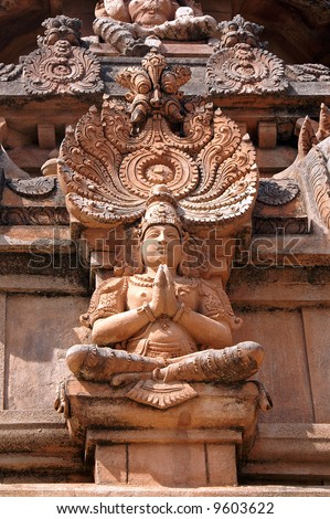 Statue of Lord Krishna, Krishna temple, Hampi, state of Karnataka, India - stock photo
