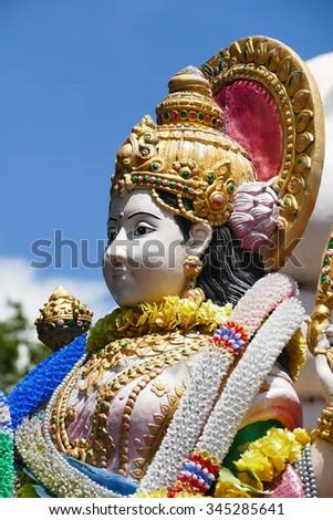 Statue of Lord Shiva in Murudeshwa - stock photo