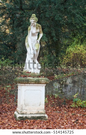 statue of nude woman in Wallach french park in Mulhouse
