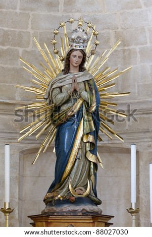 statue of Our Lady Immaculate - Sicily - seventeenth century - stock photo