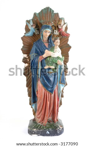 """Statue of """"Our Lady of Perpetual Help"""" . Catholic Culture. - stock photo"""