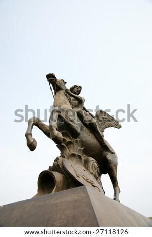 statue of pegasus - stock photo