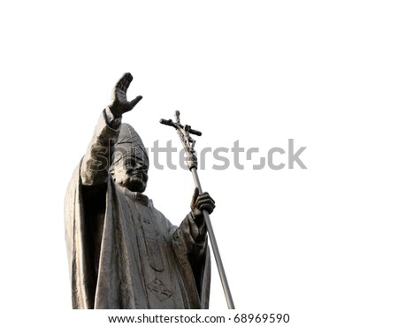 Statue of Pope - stock photo
