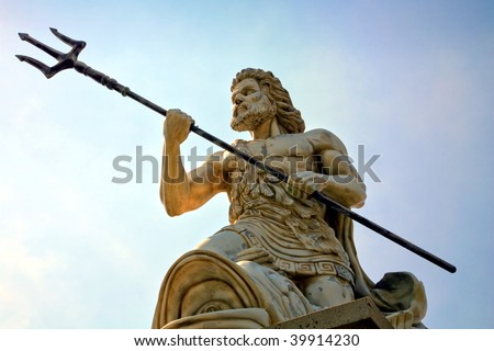 Statue Of Poseidon - stock photo