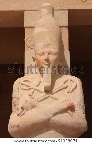 Statue of Queen Hatshepsut - stock photo