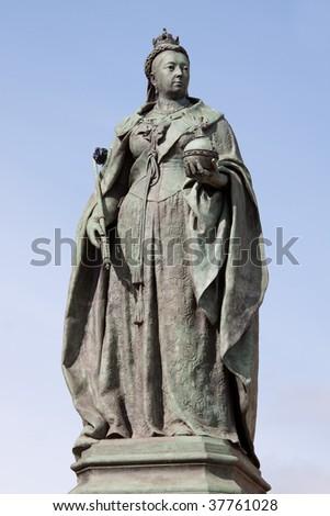 Statue of Queen Victoria in Birmingham,UK - stock photo