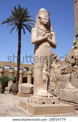 Statue of Ramses II in Karnak temple in Luxor, Egypt. - stock photo