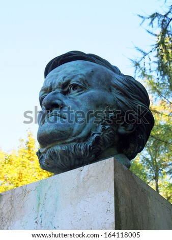 Statue of Richard Wagner in Bayreuth, Germany - stock photo