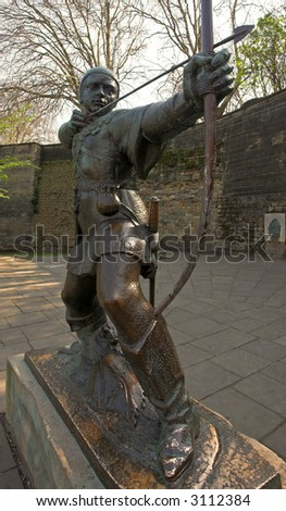 Statue Of Robin Hood, Nottingham, England - stock photo