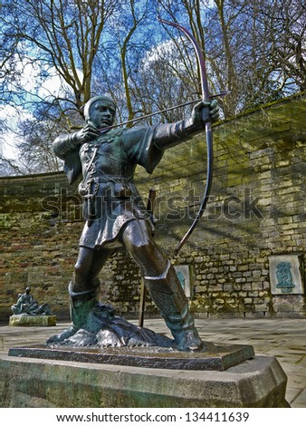 Statue of Robin Hood, Prince of theives.