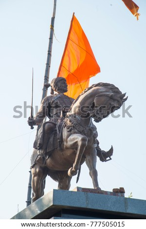 Statue of Shivaji Bhonsle also known as Chhatrapati Shivaji Maharaj, was an Indian warrior king and a member of the Bhonsle Maratha clan.