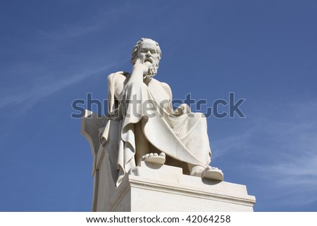 Statue of Socrates in Athens, Greece.