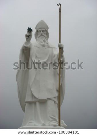 Statue of St Patrick, Croagh Patrick, Mayo - stock photo