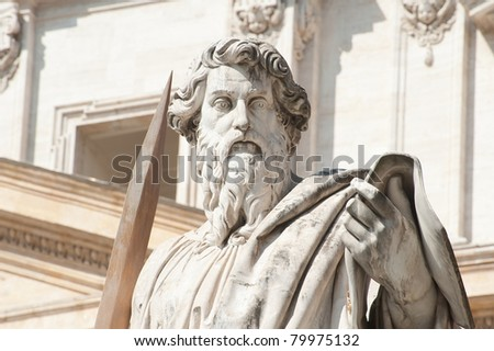 Statue of St.Peter outside The Vatican