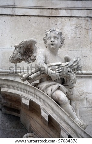 Statue of the angel,  church of St Blaise in Dubrovnik