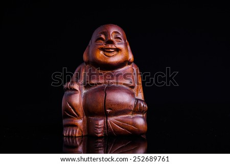 Statue of the Buddah isolated on black