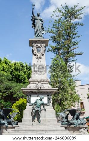 Statue of the Corregidora Josefa Ortiz de Dominguez in Santiago de Queretaro, Mexico - stock photo