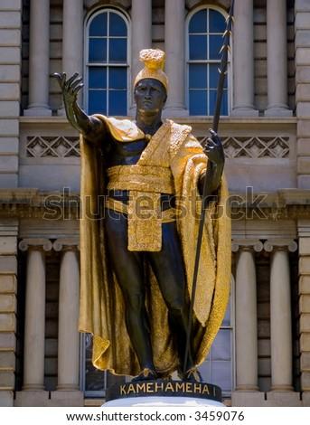 Statue of the last  King Kamehameha of Hawaii - stock photo