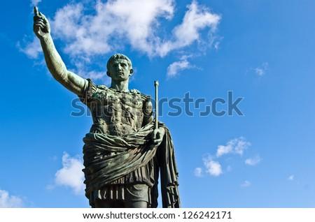 statue of the roman emperor Julius Caesar - stock photo