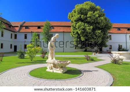 Statue of Venus in a park - stock photo