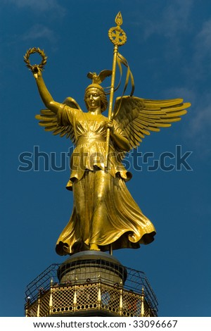 Statue Of Victory in Berlin - stock photo
