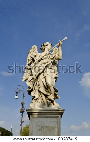Statue on Ponte Sant'Angelo in Rome