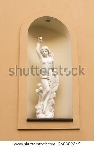 Statue on the street - stock photo