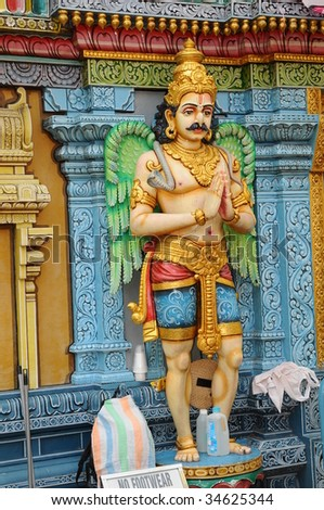Statue Outside A Hindu Temple