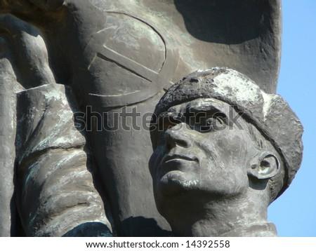 Statue Park Budapest - stock photo