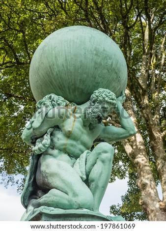 Statue representing Hercules - stock photo