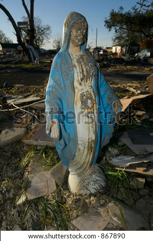 Statue - 9th Ward New Orleans - stock photo
