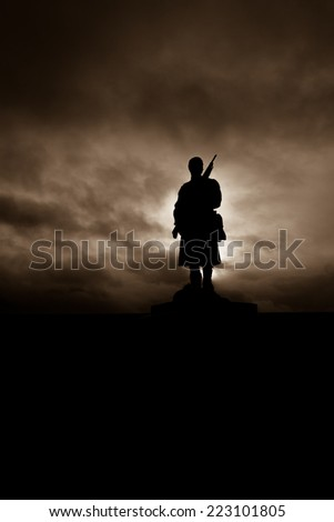 Statue to remember the fallen in the boer war - stock photo