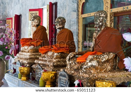 Statue. Wat Chalong. Thailand, Phuket - stock photo