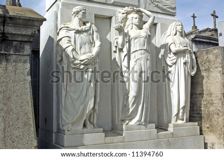 Statues at recoleta cemetery,Argentina