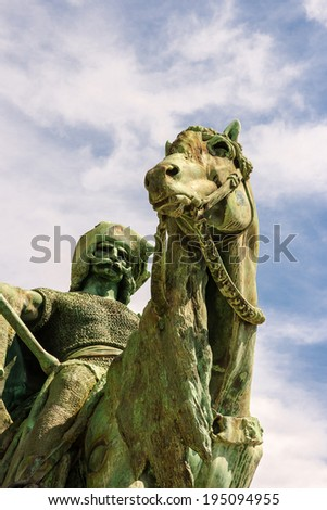 Statues Hero's square - stock photo