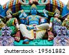 statues on a hindu temple, singapore - stock photo