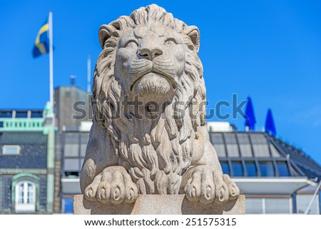Statues on roof of Banco Bilbao Vizcaya - now part of BBVA (architect Ricardo Bastida y Bilbao, built 1920 to 1923) is a building located at Calle de Alcala, 16, in Madrid, Spain. Quadriga on Bank. - stock photo