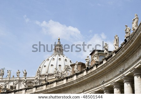 Statues on St. Peter's Basilica, St. Peter's Square, Vatican City