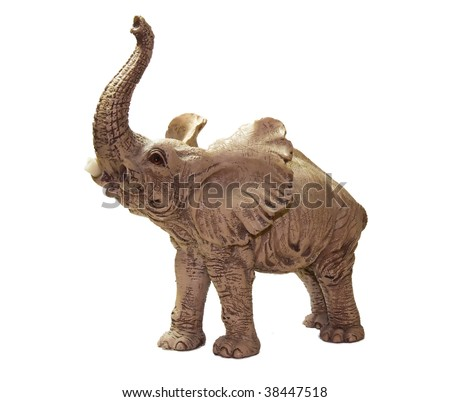 Statuette elephant - stock photo