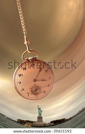 Stature of Liberty and Time - stock photo