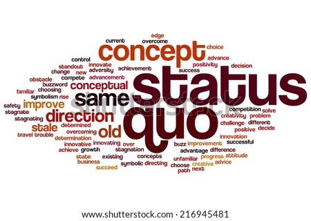 Status quo concept word cloud background - stock photo