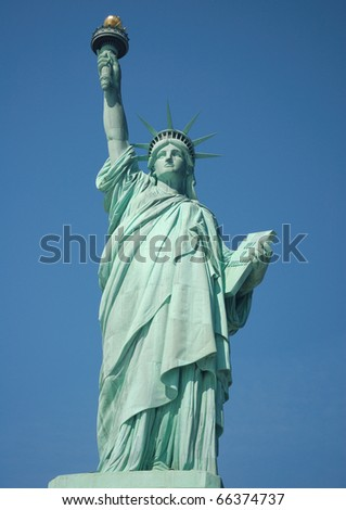 Statute of Liberty on Ellis Island in New York - stock photo
