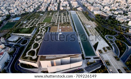 Stavros niarchos foundation from above athens greece