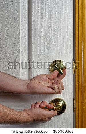 Stay safe and Lock your doors - stock photo